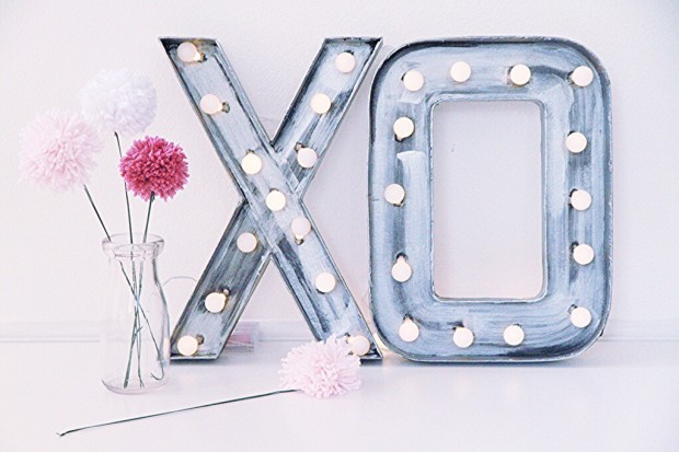 DIY Post – Marquee Letters