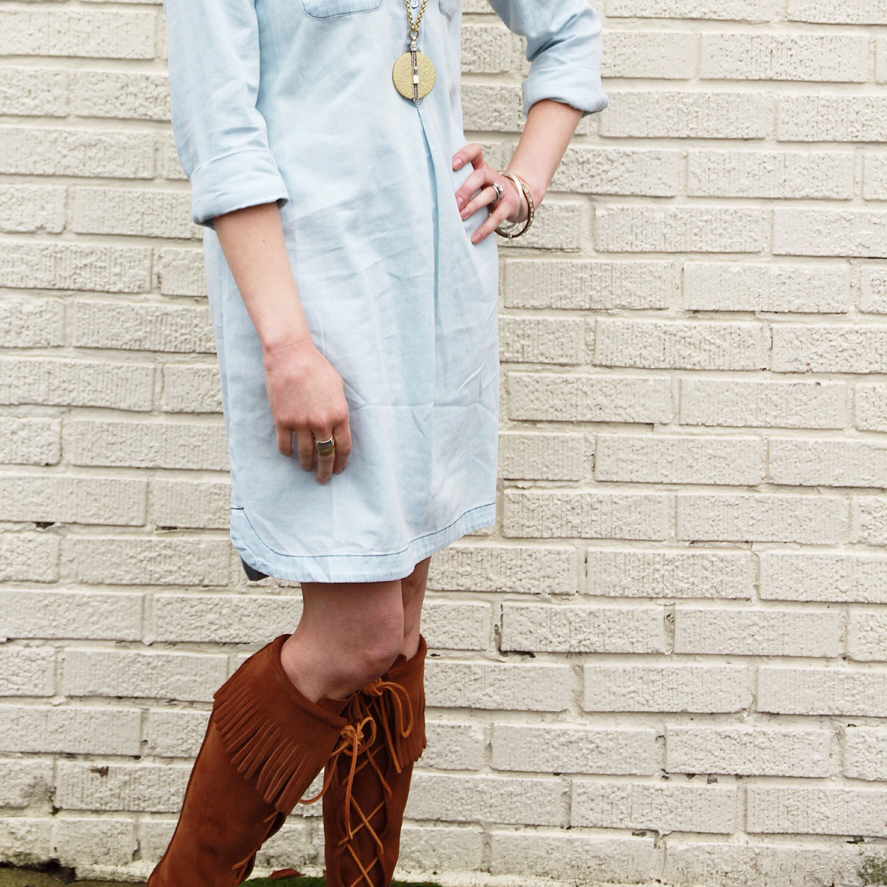 Style Post – Fringe and Chambray