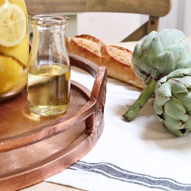 A Pretty Tray and Some Artichoke Recipes