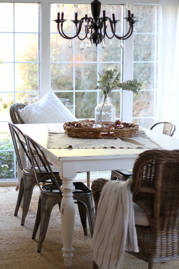 DIY Chalk Painted Dining Table - zevy joy