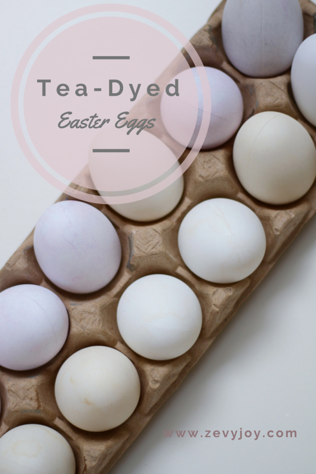 Tea dyed Easter eggs poster.