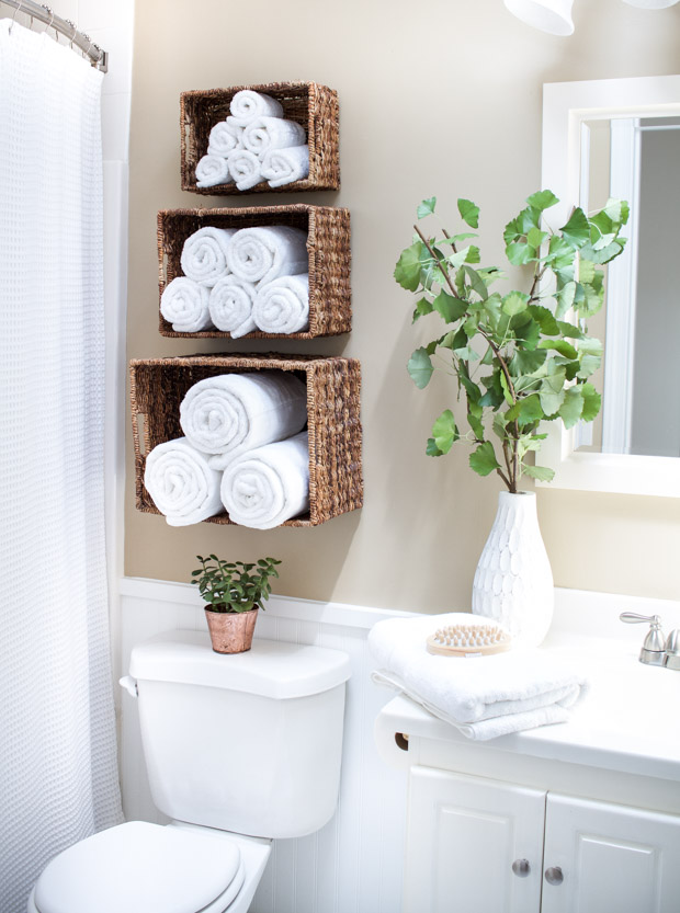 Simple Ways to Display and Store your Bathroom Towels - Boll and ...