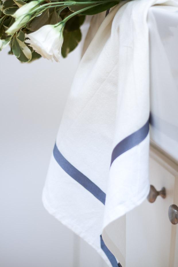 DIY Ribbon Trimmed Kitchen Towel 21