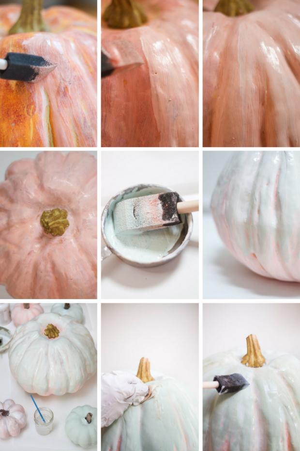 DIY Painted Heirloom Pumpkin