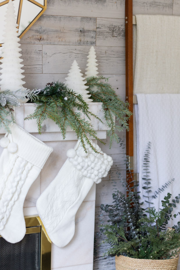 Cozy And Neutral Christmas Decor Quot Here Comes Santa Quot Blog