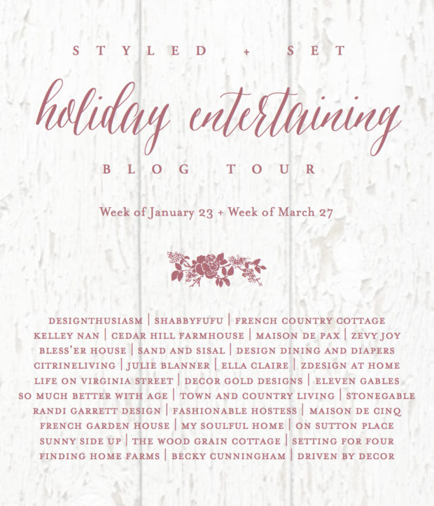 Holiday entertaining styled and set poster.