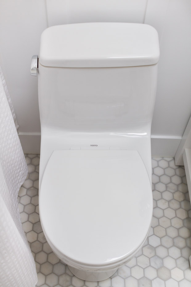 A white Toto toilet brand new.