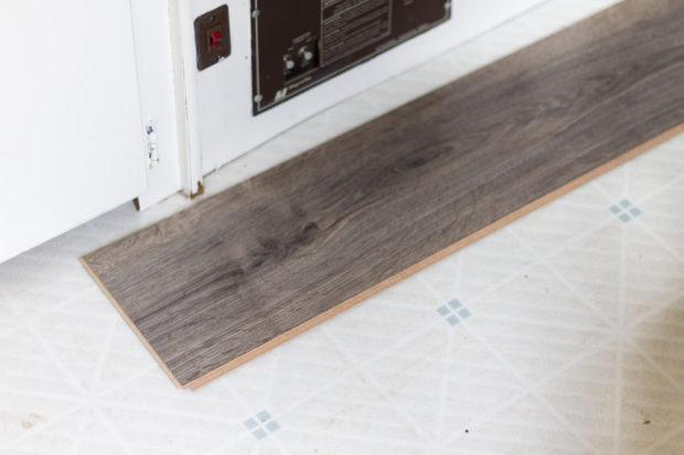 Wooden floor board sample.