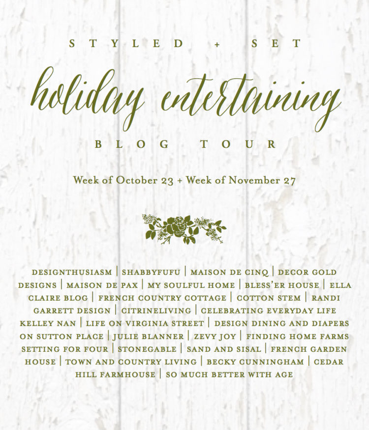 Holiday entertaining poster.