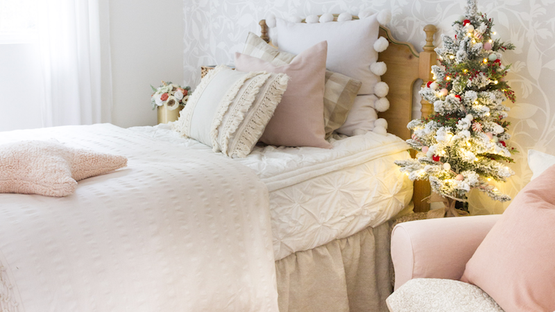 Little Girl's Room with Accents of Blush Pink and Rose