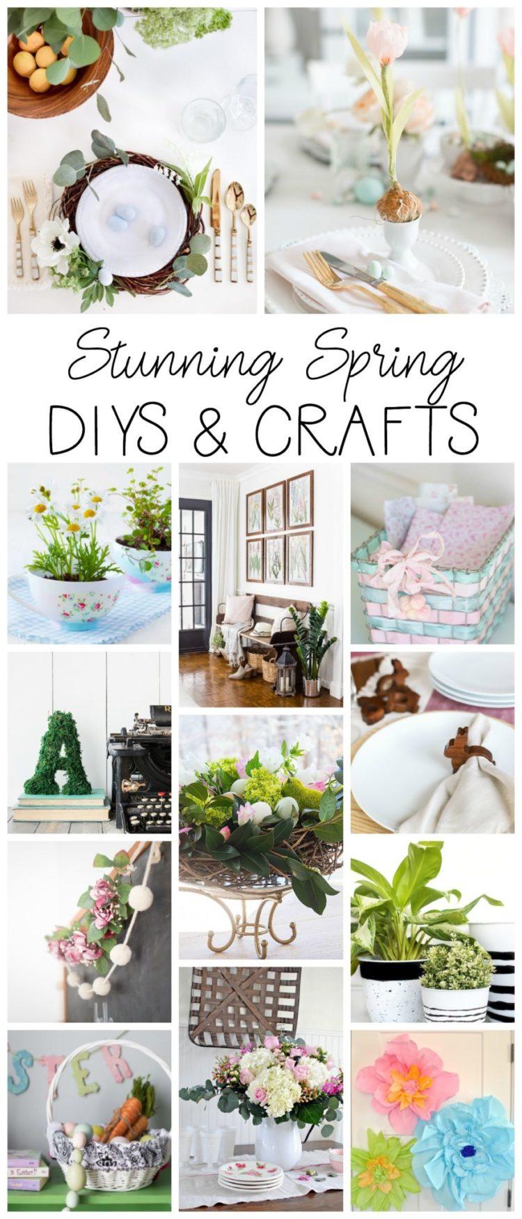 Stunning Spring DIYS & Crafts poster.
