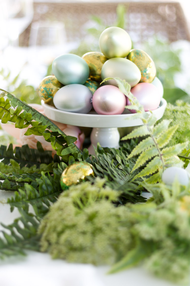 Styled + Set Entertaining for Easter with Ferns and Pastels