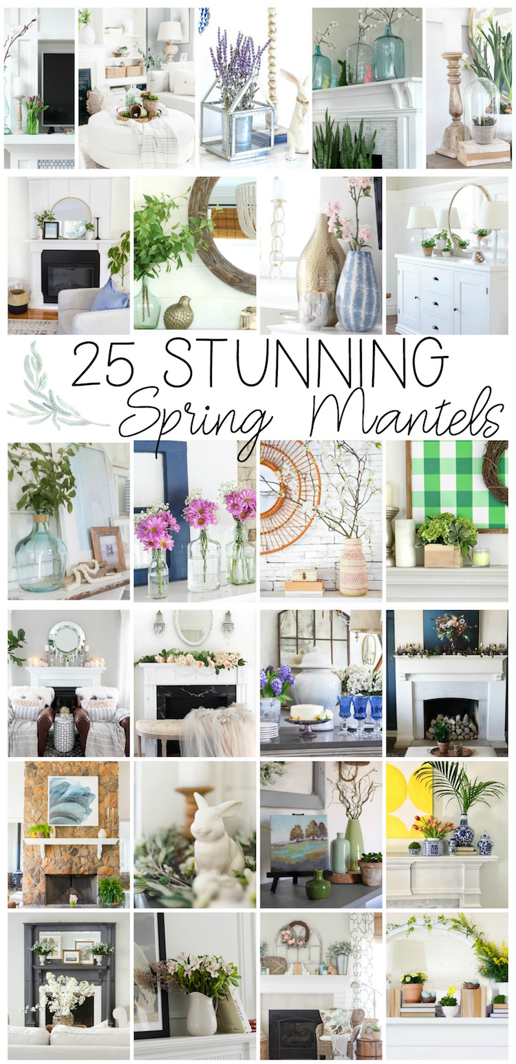25 stunning spring mantels graphic.