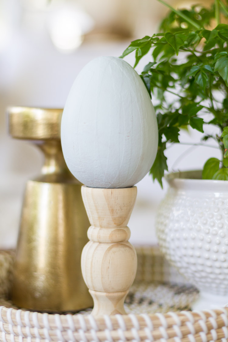 DIY Easter Pedestal and How to Decorate Your Coffee Table