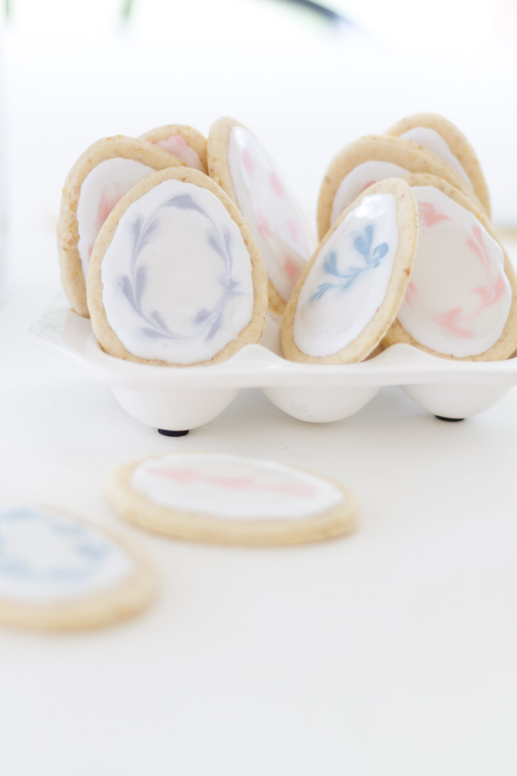 Gluten/Dairy Free Easter Egg Lemon Sugar cookies