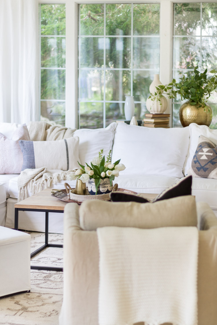 Spring in the Sunroom with Soft Blues - Seasonal Simplicity Home Tour
