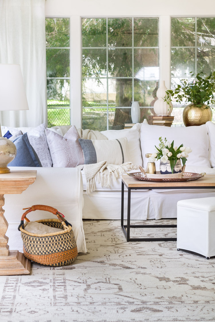 Spring In The Sunroom With Soft Blues   Seasonal Simplicity Home Tour
