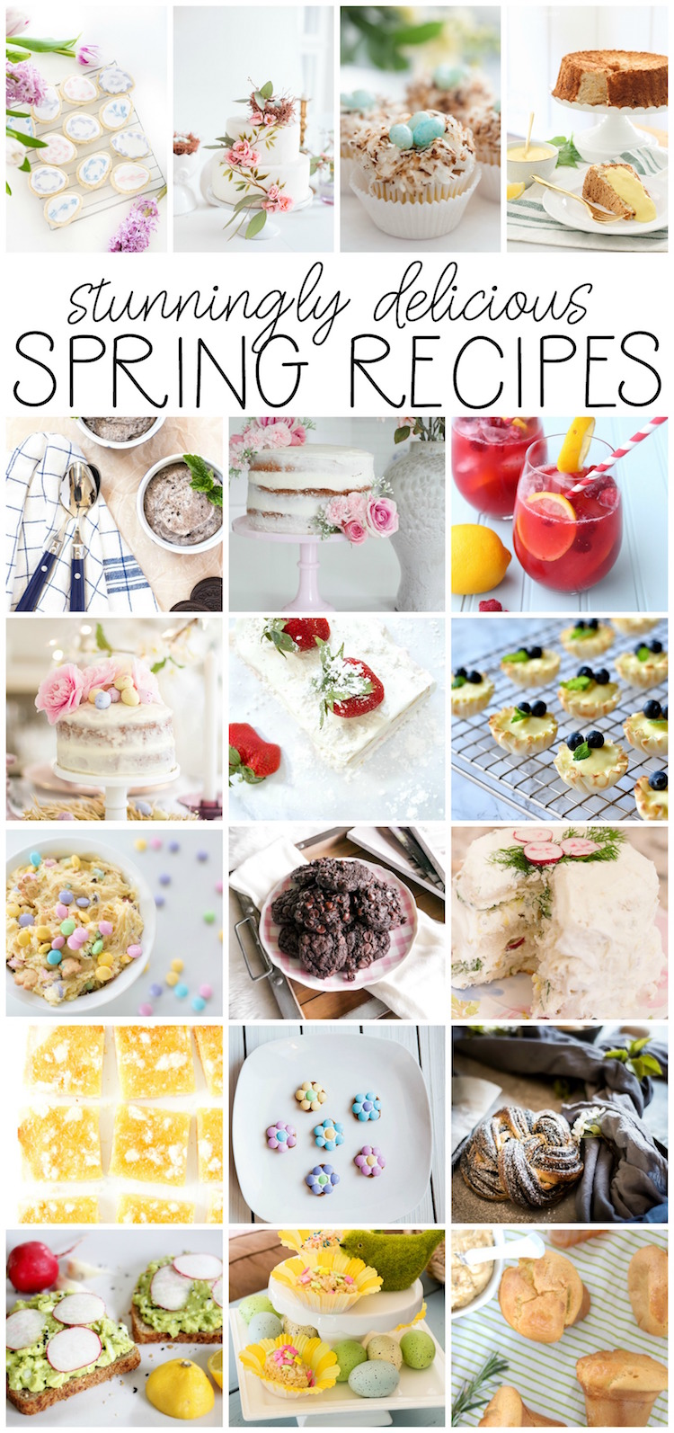 Stunningly delicious spring recipes graphic.