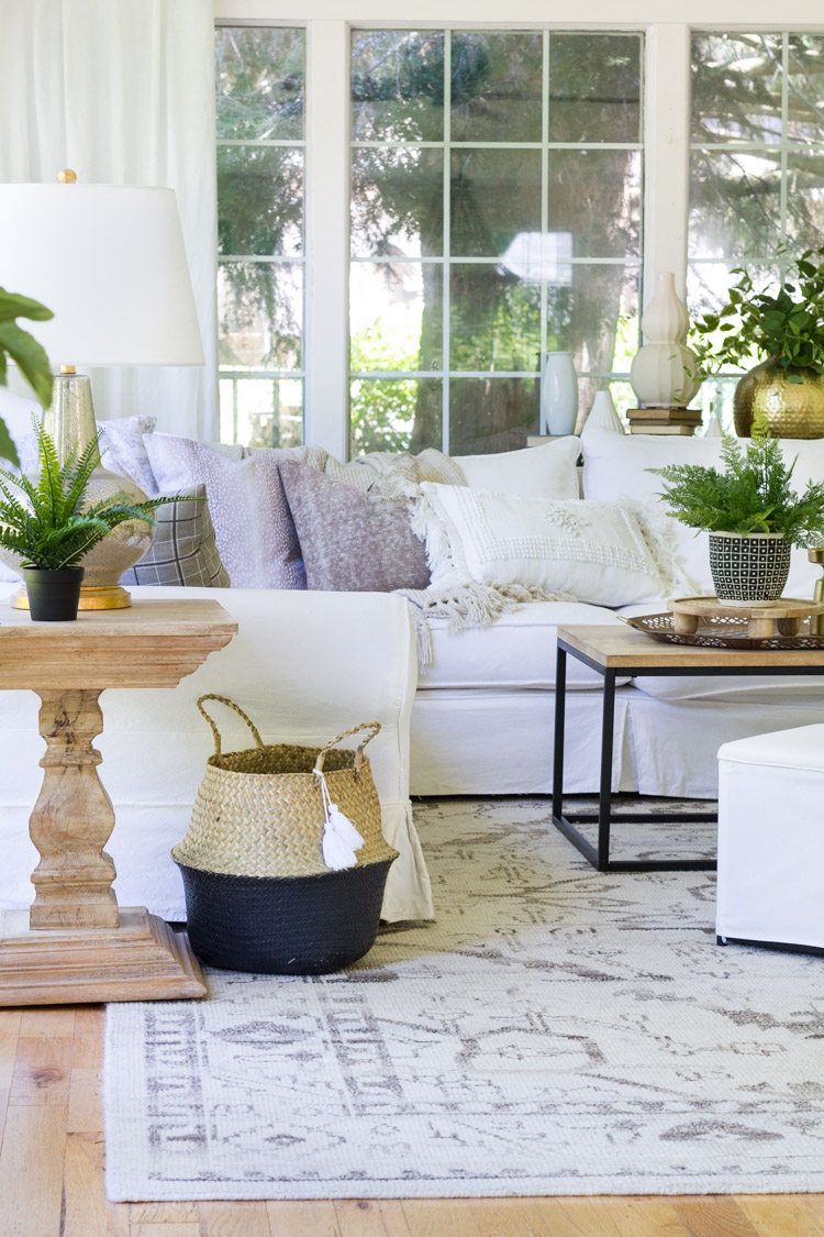 Neutral Summer Decor Inspiration in the Family Room
