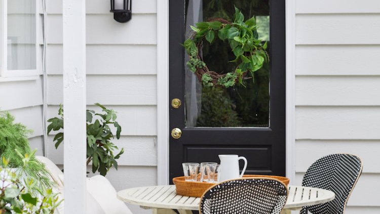 Simple Outdoor Wreath With Faux Greenery