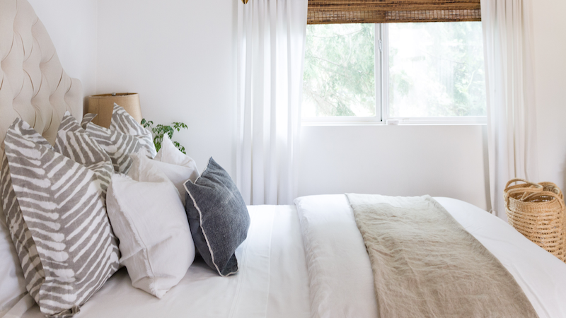 Linen in the Bedroom for Summer