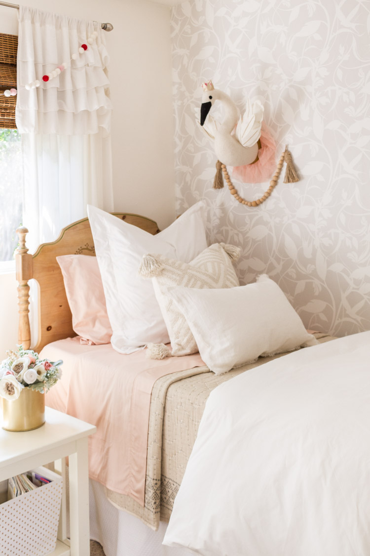 Bedding Refresh For A Little Girl's Room