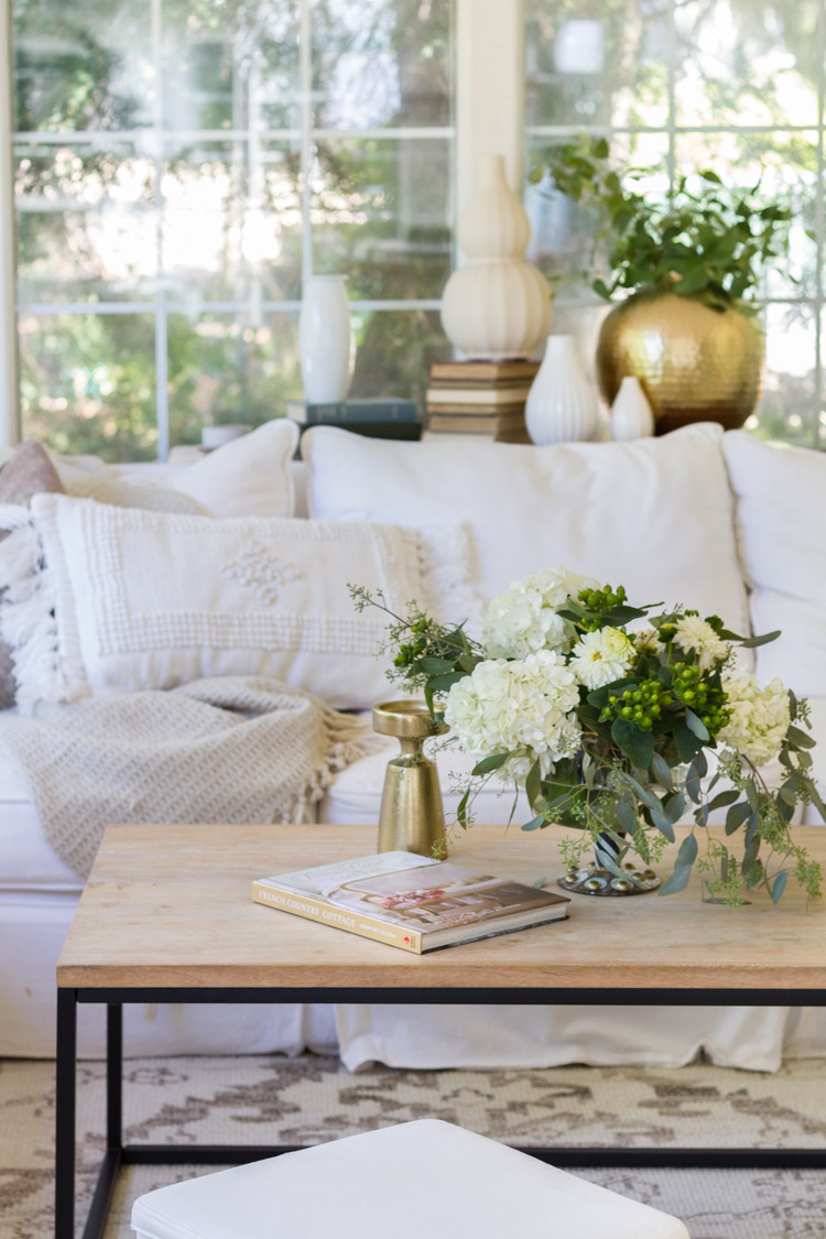 Coffee table styling and a good book