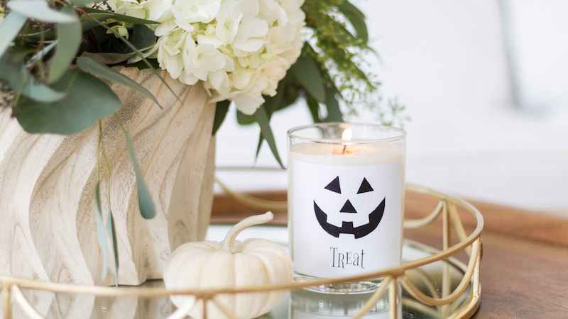 Trick or Treat Printable Stickers for Candles and More