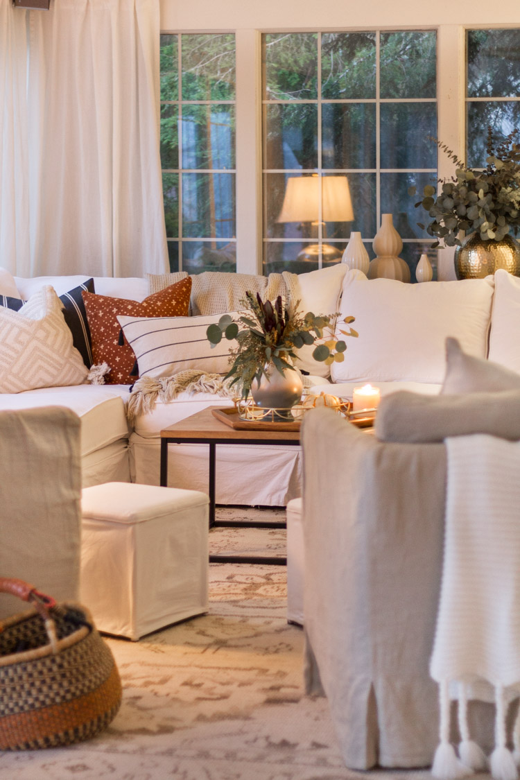 Fall Family Room - Seasons of Home Holiday Decor Series