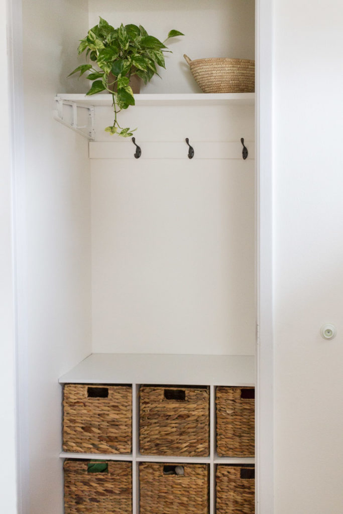 Hall Closet Made Into A Mini Mudroom 7