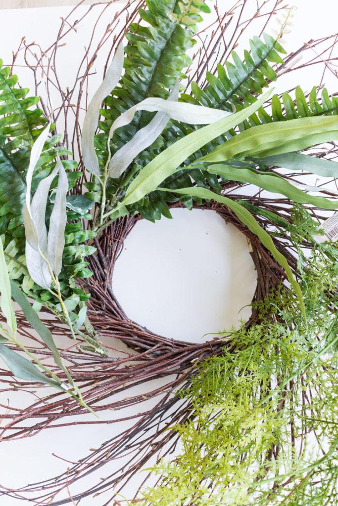 DIY Fern and Eucalyptus Wreath 2