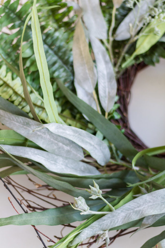 DIY Fern and Eucalyptus Wreath 2