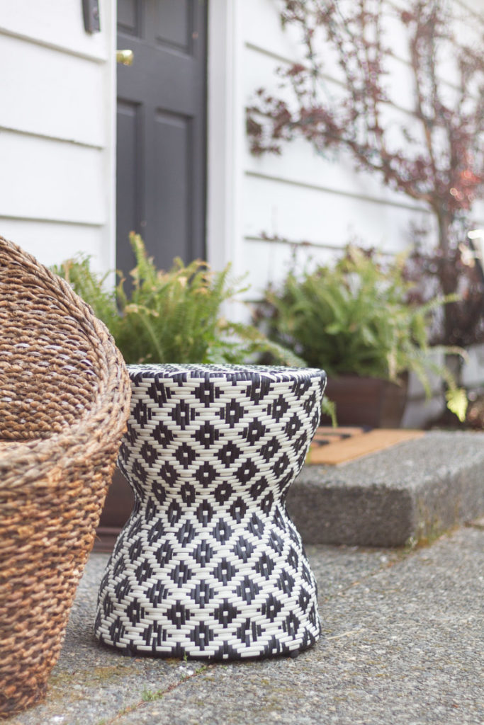Our Spring Porch with Pops of Black and White