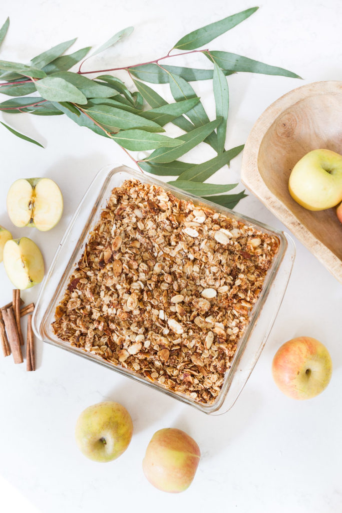 Gluten and dairy free Apple Crisp 16