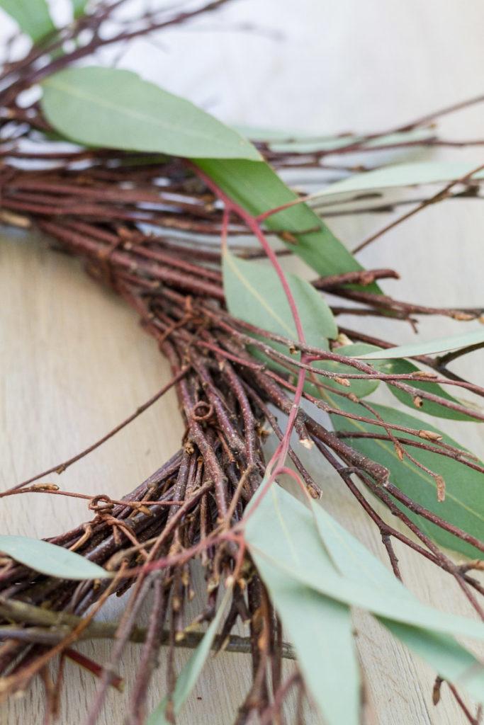DIY Eucalyptus and Berry Fall Wreath