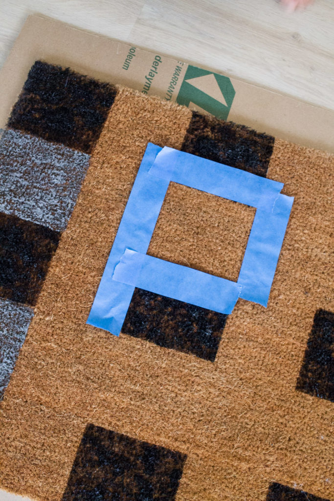DIY Buffalo Check Doormat