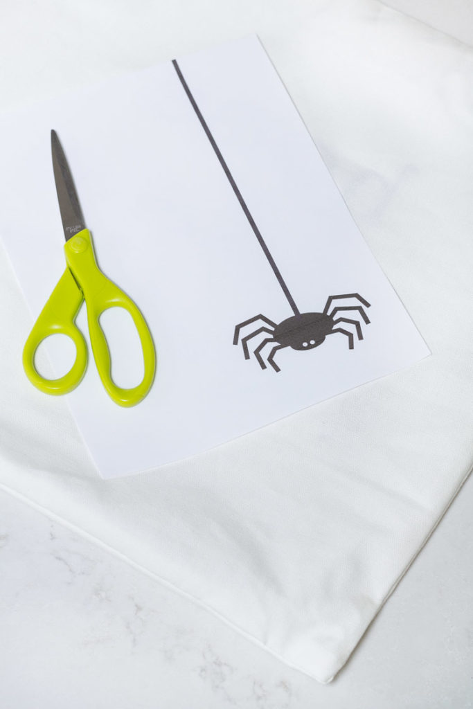 Dangling Spider Pillow Printable