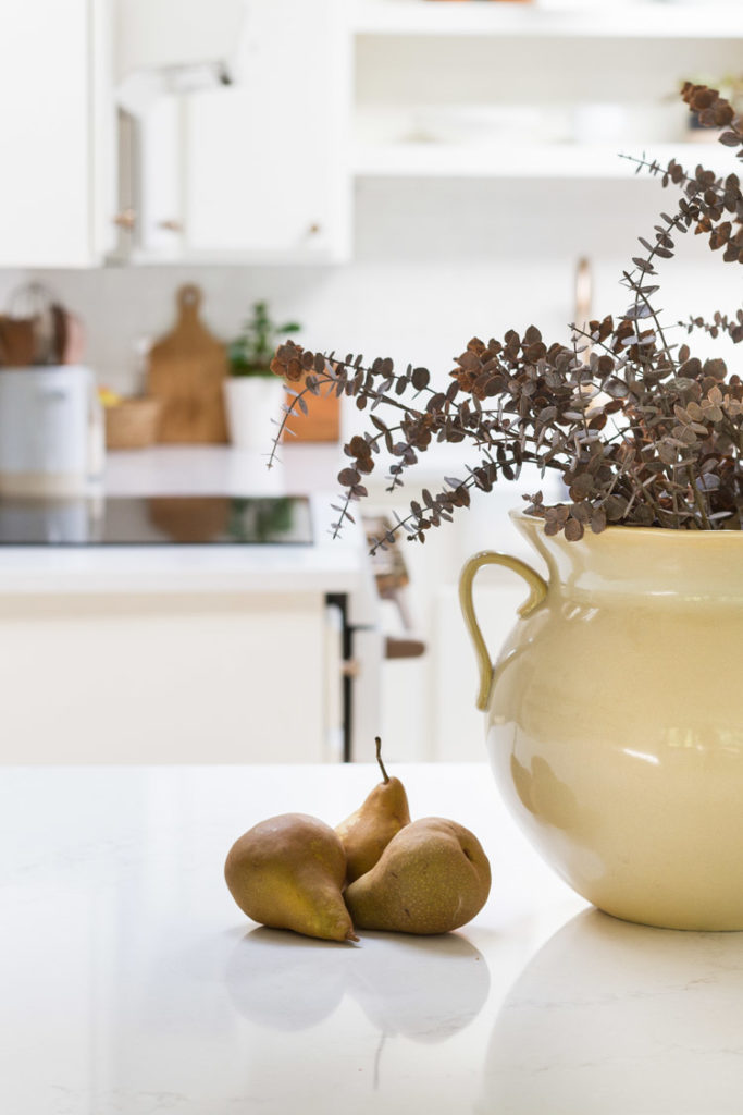 Neutral touches of fall in the kitchen 2