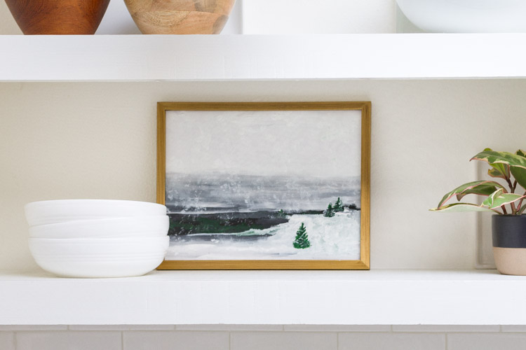 Snowy Landscape Painting Free Printable 4