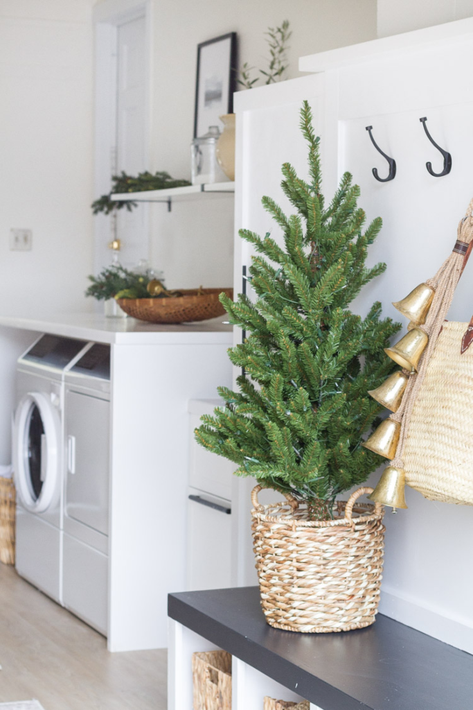 The Laundry Room Decorated For Christmas And A New Washer-Dryer