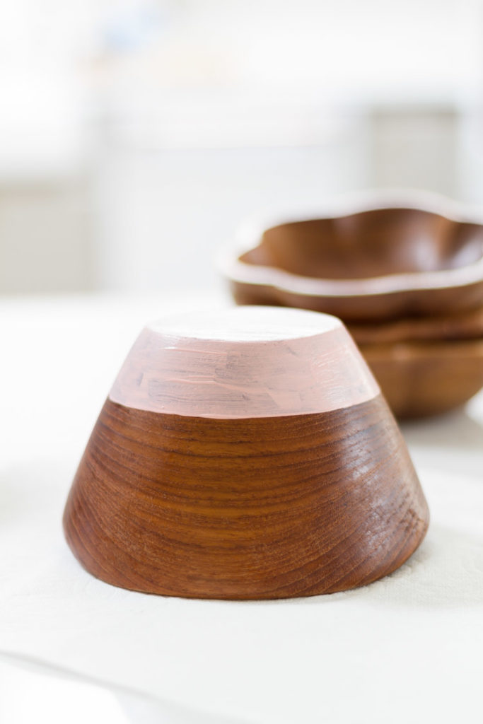 Spring DIY - Painted Wooden Bowls 7