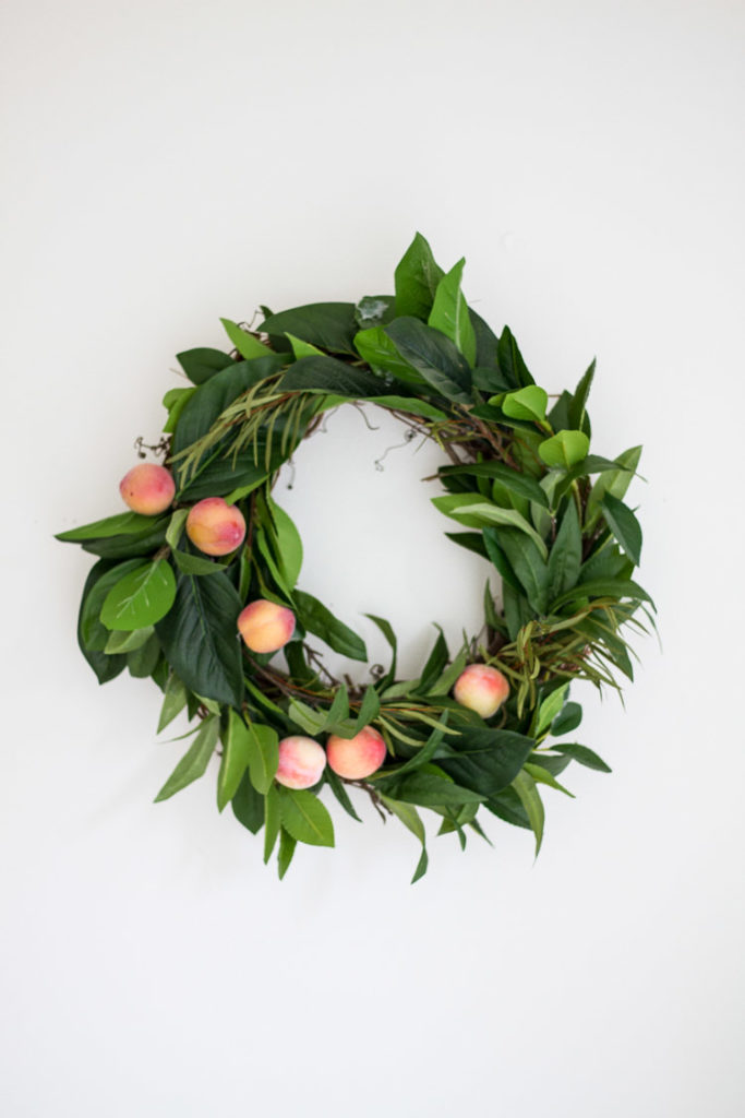 Spring DIY - Faux Fruit Wreath 6