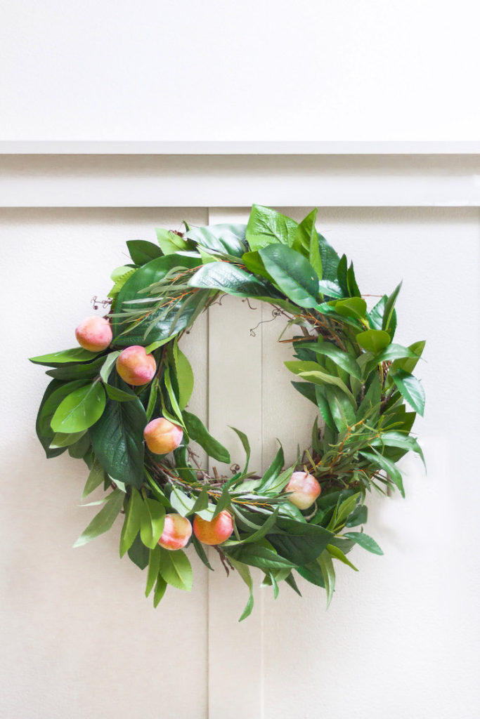 Spring DIY - Faux Fruit Wreath 6