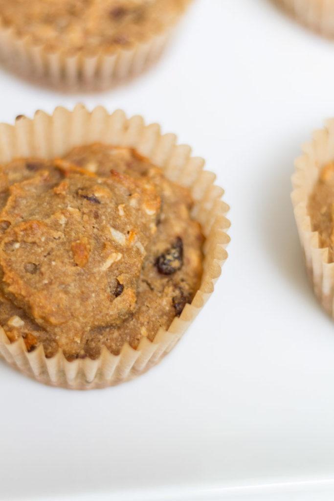 Gluten-Dairy Free Carrot Cake Muffins