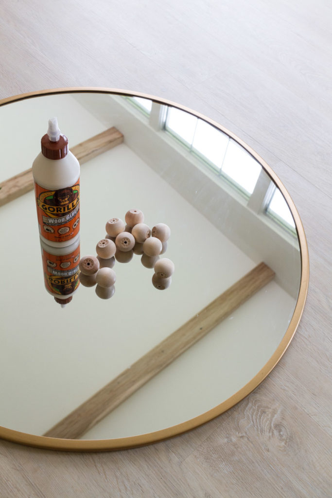 DIY Wooden Ball Mirror