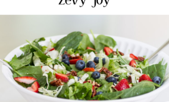 Easy Spinach and Fruit Summer Salad
