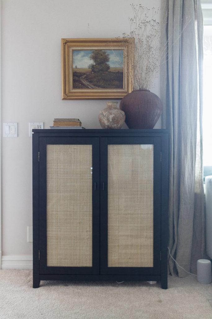 DIY Cane Webbed Cabinet
