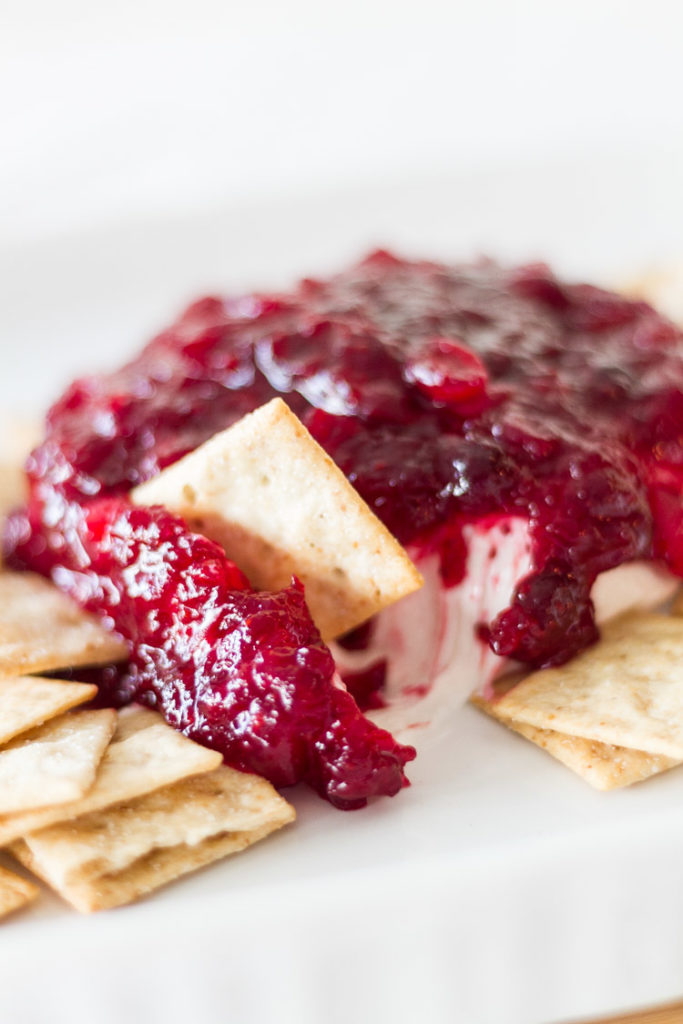 Holiday Cranberry Cream Cheese Spread Recipe