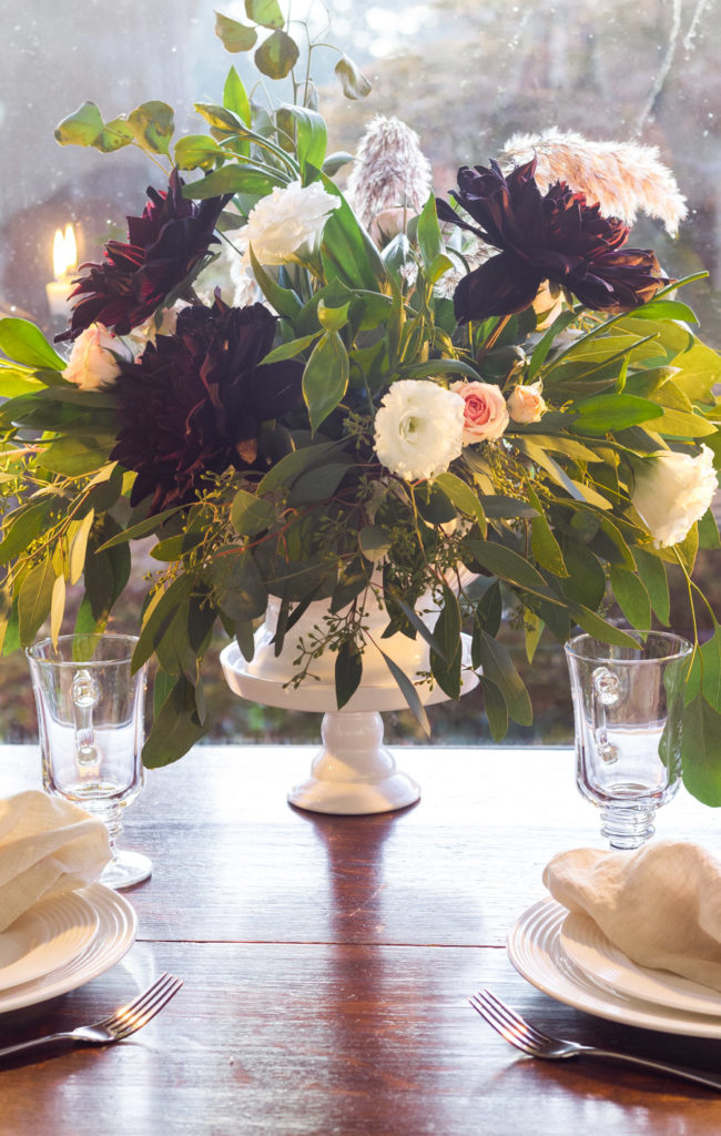Moody Fall Floral Centerpiece