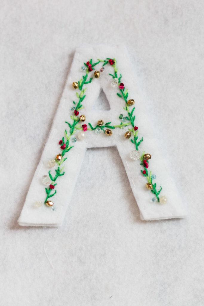 DIY Anthropologie Inspired Felt Letter Ornament